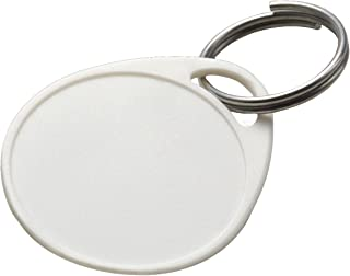 Lucky Line Round Label-It Plastic Tags - One Hole Without Labels, White, 100 Pack (25175)