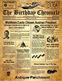 11inch x 14 inch The BIRTHDAY CHRONICLE Newspaper...