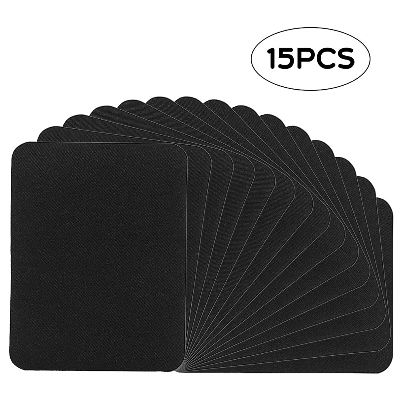 Cocoboo 15pcs Iron on Patches Black Fabric Repair Kit for Clothes, Jeans, Jackets 4.9