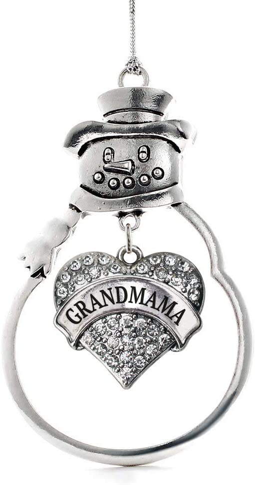 Inspired Silver - Grandmama Be super welcome Charm C Heart Ornament Pave Max 61% OFF