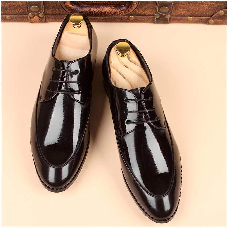 EGS-schuhe Business-Schuhe, Business-Schuhe Herrenschuhe,Grille Schuhe (Farbe   Schwarz, Größe   41)
