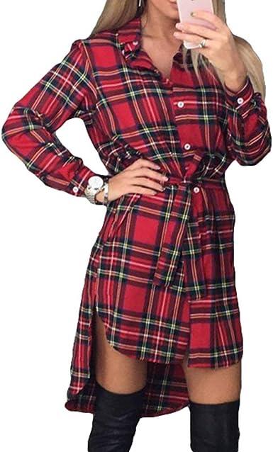 Vestido De Cuadros Escoceses para De Moda Ropa Mujer Festiva ...