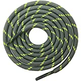 DELELE 2 Pair Round Climbing Shoelaces Greenish Green Hiking Shoe Laces Boot Laces 68.90 inch