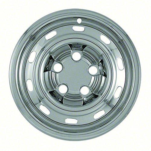 "Set of 4 Chrome 17"" Hub Cap Wheel Skins: Dodge Ram 1500 ST 17x7 Inch 5 Lug Steel Rim -aftermarket: IMP/61X"