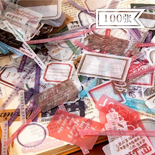 In het Engels Serie Schrijfbare Papier Sticker Diy Decoratie Sticker Voor Journal Album Scrapbooking Label Sticker100 Dagen