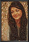 Author Love Glass Synthetic Wood Photo Collage (8.27 × 11.69 inch, Black)