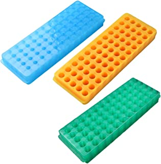 PUL FACTORY Polypropylene Centrifuge Tube Rack, 60-Well,Assorted colors, Pack of 3