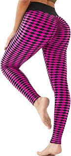 Booty Yoga Pants Women High Waisted Ruched Butt Lift Textured Tummy Control Scrunch Leggings