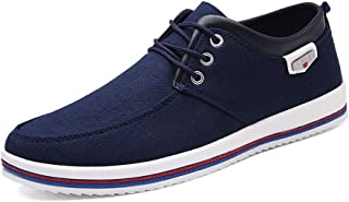 Mens Canvas Fashion Sneaker Causal Lace-Up Skateboarding...