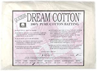 Quilters Dream Natural Cotton White Select Batting x 60in Throw