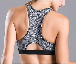 ZYDP Women Racerback Sports Bras - High Impact Workout Gymnasium Activewear Bra (Color : Green, Size : M)