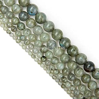 ZRBC Bulk Wholesale Assorted Natural Round Full Strand Healing Gem Semi Precious Stone Beads for DIY Bracelet Necklace Jewelry Making (Color : Labradorite Stone, Size : 10mm)