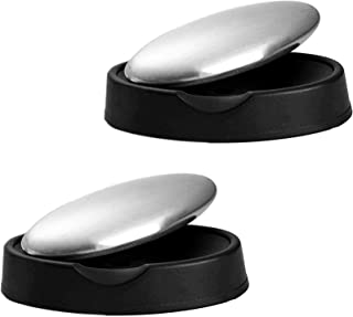 2 Pack Magic Soap Odor Remover Stainless Steel Soap Bar Eliminating Smells Like Onion, Fish or Garlic