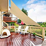 RATEL Sonnensegel Sand 3 × 3 m Rechteckig, wasserdicht Windschutz mit 95% UV Schutz Sonnenschutz für Draußen, Patio, Garten Terrasse Camping