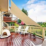 RATEL Toldo Vela de Sombra Rectangular Arena 3 × 3 m, protección 95% UV y Transpirable Impermeable, para Jardín, Patio, Exteriores, Pergola Decking