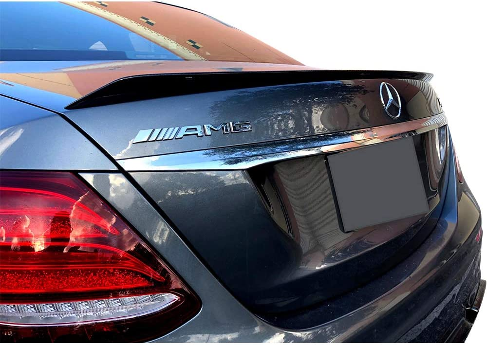 AMG Style Painted #0049 049 Magno Kaschmirweiss Metallic Matte ABS Rear Wing IKON MOTORSPORTS Trunk Spoiler Compatible With 2017-2020 Mercedes-Benz E Class W213 Sedan