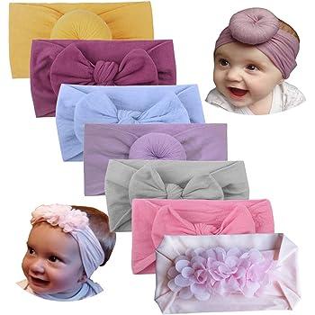 Baby Nylon Headband Infant Stretch Turban Girls Bow Hairband  Bowknot Headwrap
