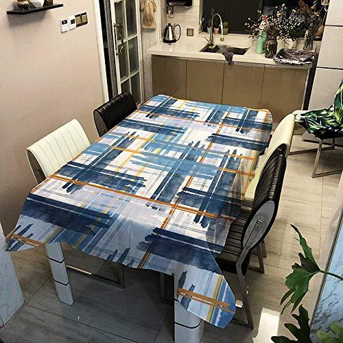 XXDD Mantel Rectangular a Rayas a Cuadros, Mantel Cuadrado, decoración de la Cocina del hogar, Mantel Impermeable A5 150x210cm