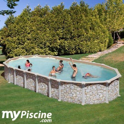 colores increíbles Piscina gre gre gre mykonos acero imitacion piedra 9,15x4,70x1,32m KITPROV9188P  mejor moda
