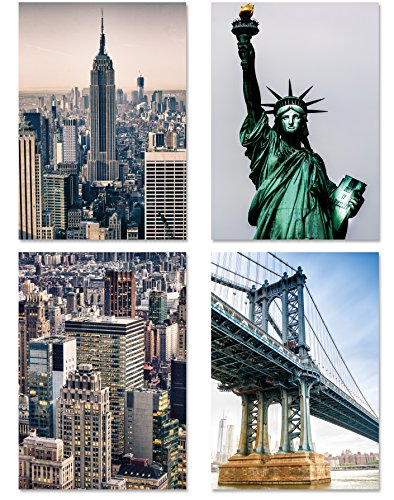 PICSonPAPER Poster 4-Set New York 1