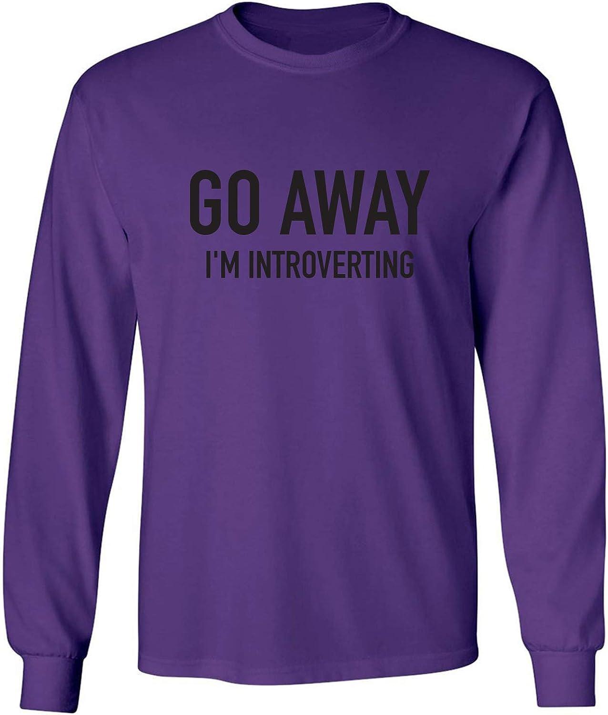 zerogravitee Go Away I'm Introverting Adult Long Sleeve T-Shirt