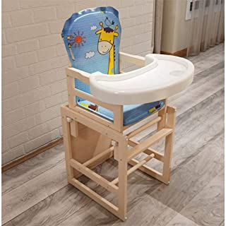 Beautiful Baby Infant Combo Highchair, Multi-Function Wooden Detachable Padded Seat Kids Toddle Dinning Chair Table With C...