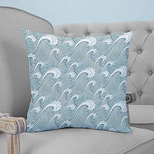 Fiore di geranio e foglia verde onda 1254l Coprifedera Copricuscino Standard Velluto a righe per divano letto per la casa Living Divano Comfort 18x18