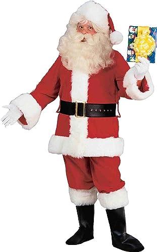 Deluxe Velvet Santa Suit Costume Adult Men X-Large