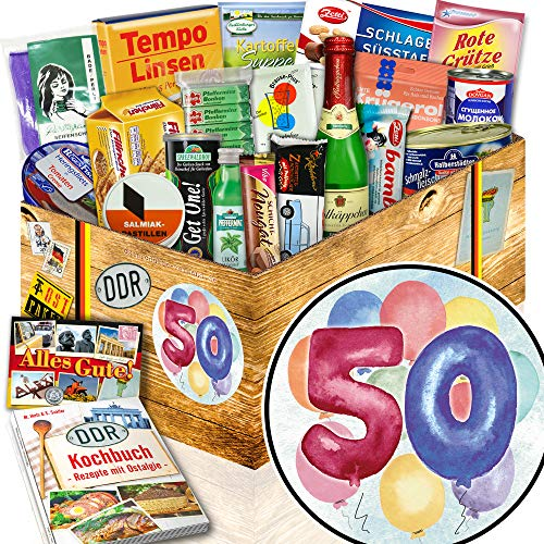 50. Geburtstag + 50 Geburtstag Geschenke + DDR Geschenkbox