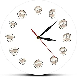 yaoyao Wall Clock for Office Wall Clocks for Living Room 12 Tooth Modern Clinic Clock Hygienist Silent Watch Unique Design Can Be Used As Very Nice Gift 12 Inch Acrylic Silence White
