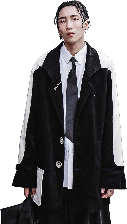 MFCT Men's Streetwear Black Urban Gentlemen Suit Jacket