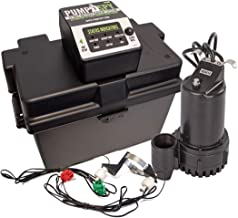 PumpSpy PS2000 WiFi Battery Backup Sump Pump System with Internet Monitoring & Alerts