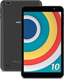 WINNOVOタブレット8インチAndroid 10.0 GO 4コアCPU解像度1280*800 IPS ROM32GB 重力センサー Wi-Fi Bluetooth GPS FM機能搭載 (ブラック)