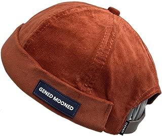 Skullcap Beanie Worker Sailorcap Corduroy Rolled Cuff Harbour Hat Brimless Commando Watch Cap