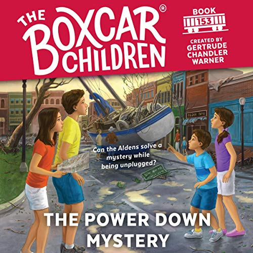 The Power Down Mystery audiobook cover art