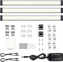 Under Cabinet Lights, LED Kitchen Lights, LED Bar, Dimmable Light Bar, TECKIN Cabinet Lighting, Cupboard Lighting, Kitchen Lighting 12W, Ultra Thin, Cabinet Wardrobe Room Bookshelf(3Pack)