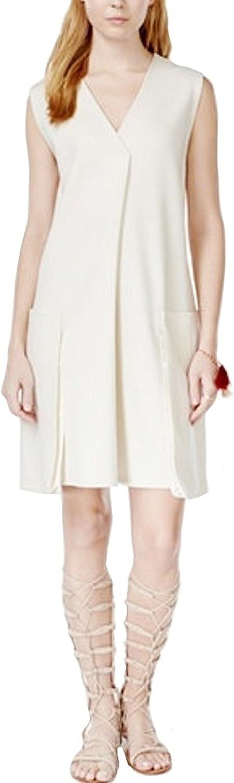 Rachel Rachel Roy Sleeveless Shift Dress, Ivory, Medium