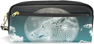 Estuche, pluma bolsa Maquillaje bolsa cartera gran capacidad Wolf Navidad regalo de los estudiantes