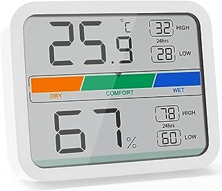 LIORQUE Digitales Thermometer Hygrometer Innen Thermo-Hygrometer mit Magnet, MIN/MAX-..
