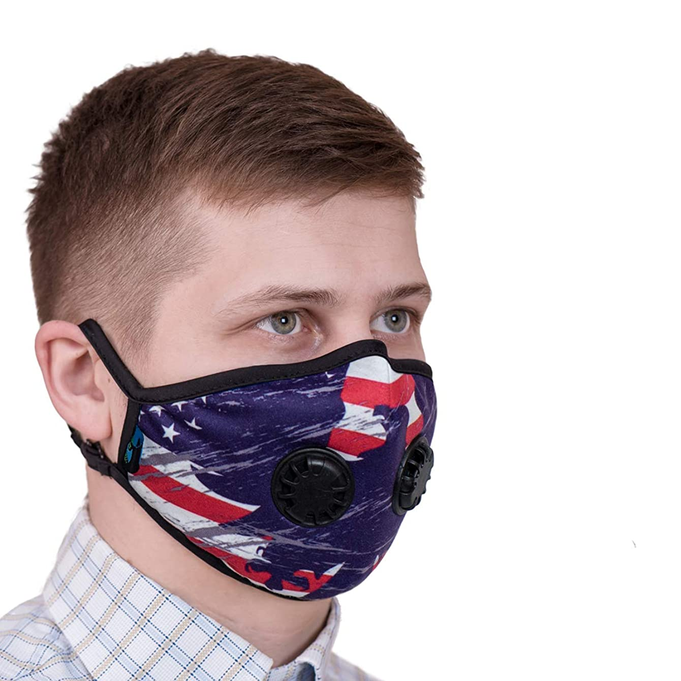 ToRespire Dust Mask N95 N99 Anti Pollution Mask Face Respirator w/ Antiviral / Activated Carbon Filters Reusable & Washable w/ Adjustable Head Straps for Men Women (Medium USA)