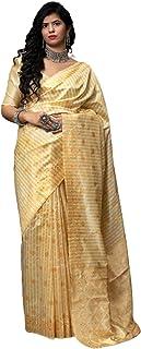 فستان هندي ذهبي لحفلات الكوكتيل من نسيج ناعم من حرير بناراسي هندي للسيدات فستان هندي أنيق 6095