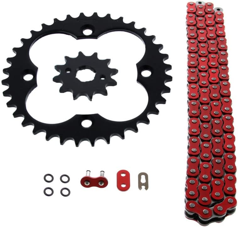 Fits Honda Milwaukee Mall TRX250R 250R Department store 520-96 Red Ring Black O Chain Sprocket