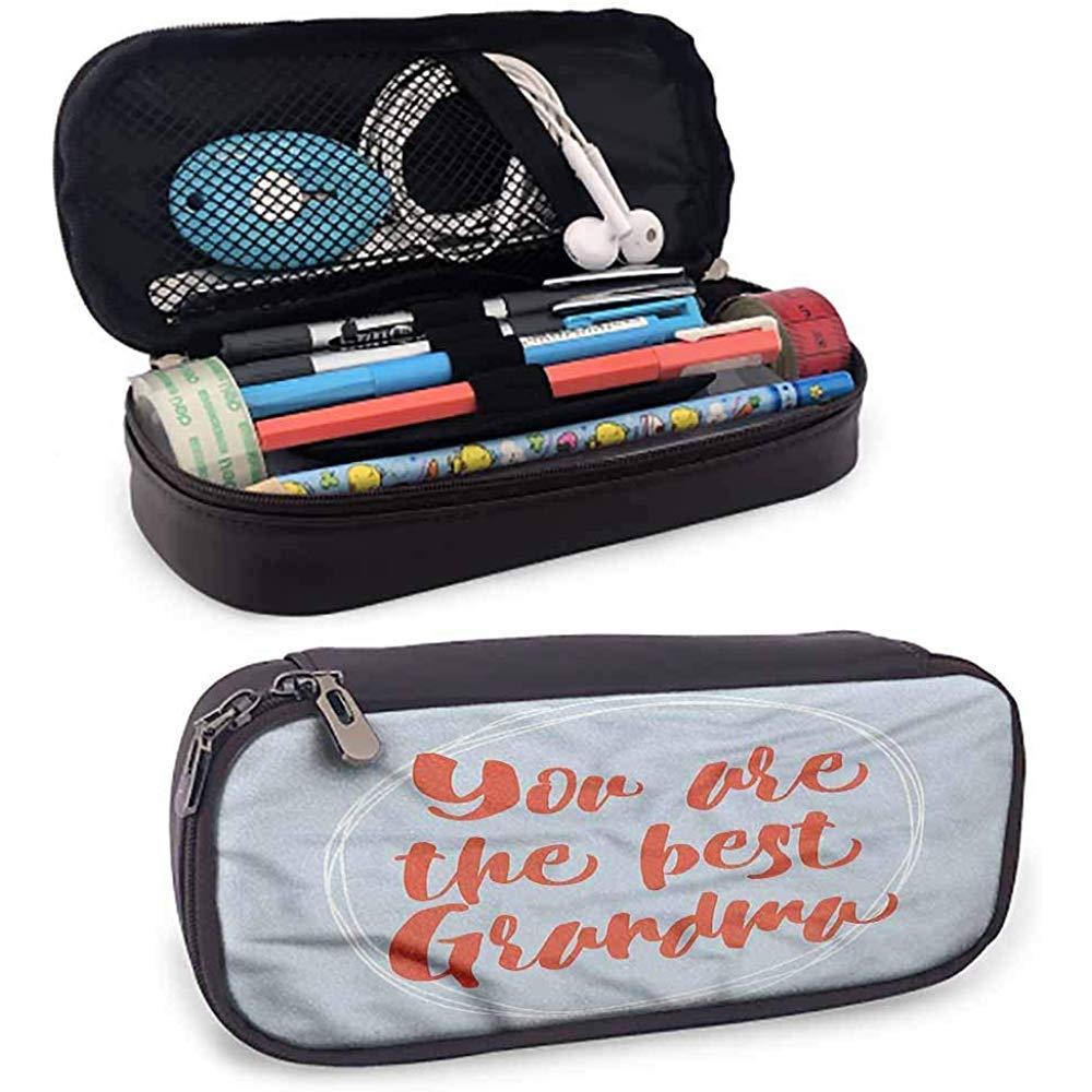 Abuela Estuche para lápices Bolsa Estuche para lápices Doodle Círculos: Amazon.es: Oficina y papelería