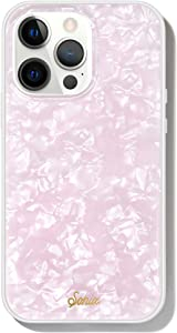 Sonix Pink Pearl Tort Case for iPhone 13 Pro [10ft Drop Tested] Protective Translucent Iridescent Pink Marble Cover for Apple iPhone 13pro