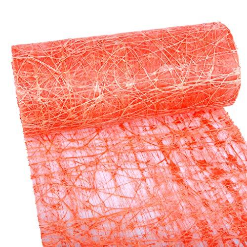 dekoweb Runner da tavola–Nastro–Arancione–30cm larghezza–15m lunghezza + + 100gespiegelte decorazione cuori gratis–54–300–15–005