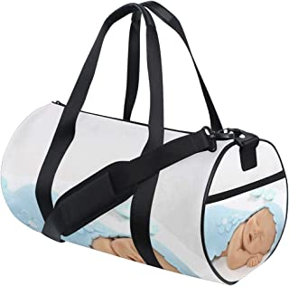 OuLian Duffel Bag Boy Mustache Cupcake Women Garment Gym Tote Bag Best Sports Bag for Boys