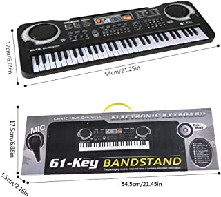 Numeo Simulated Keyboard Music Piano Toy Children's Musical Instrument - Portable 61-Key Electronic Organ with Microphone