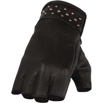 GVL1005 BLK//PURP; S Black//Purple, Small Hot Leathers Womens Fingerless Gloves