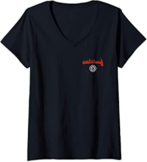 Womens Miami Florida Fire Rescue Department Firefighters Firemen V-Neck T-Shirt