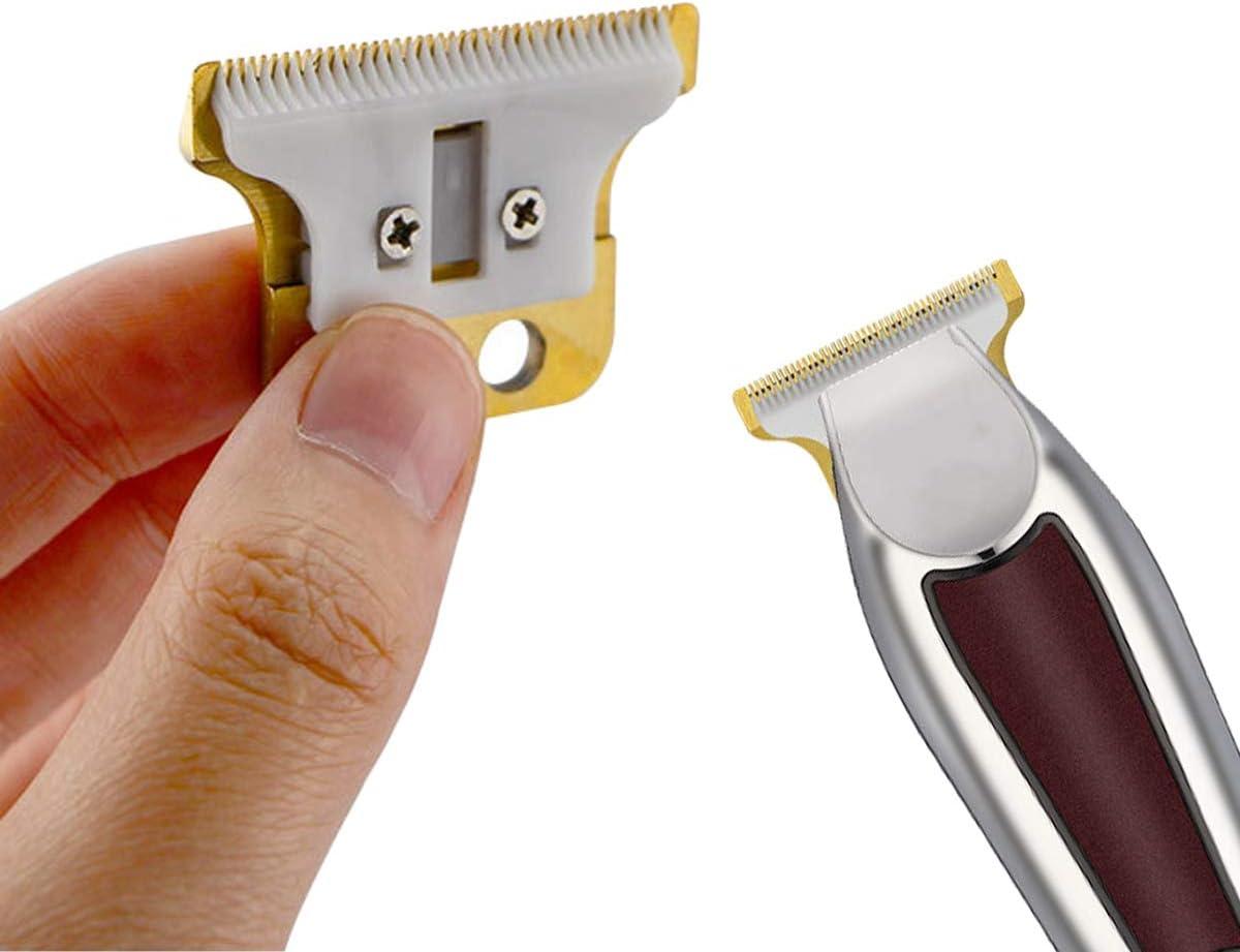 2 Pezzi per Lama per Tosatrice Professionale 8081 per Tagliacapelli Argento + Ceramica ACAMPTAR Lama Mobile di Ricambio 1 Set